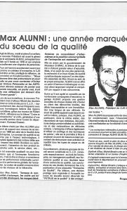 Max Alunni : une année marquée par le sceau de la qualité