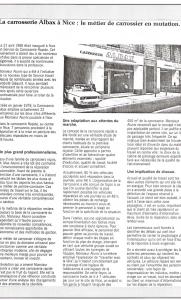 Profession Peintre : Albax à Nice, le métier de carrossier en mutation