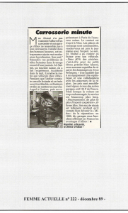 Femme Actuelle - Albax, carrosserie minute