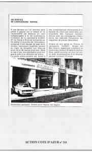 Action Côte D'azur 218 - Albax, un service de carrosserie rapide
