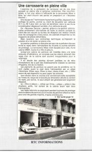 RTC Informations - Une carrosserie en pleine ville