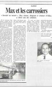 Le journal de l'automobile - Max Alunni et les carrossiers