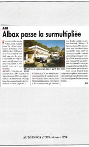Auto Infos - Albax passe la surmultipliée
