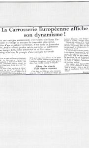 Le Coloriste - La Carrosserie Européenne affiche son dynamisme