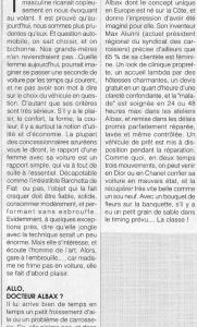Marie Claire - Allo, docteur Albax