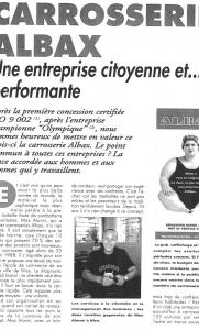 Auto Business - Carrosserie Albax, Une entreprise citoyenne et performante