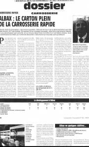 Journal de l\\\'automobile - Albax : Le carton plein de la carrosserie rapide