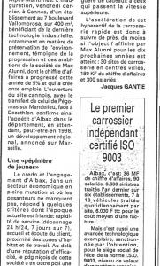 Nice Matin - Cannes : La dynamique Albax