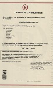 Certificat d'approbation ISO 9001:2000 2001-10-10-ISO9001-2000-LQ.jpg
