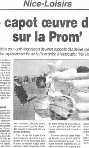 Nice Loisirs - Albax : Le capot oeuvre d\\\'art sur la Prom\\\'s
