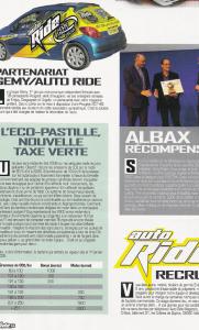 Auto Ride - Albax récompensé