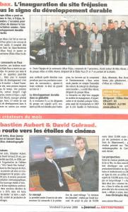 Le journal des entreprises - L'inauguration du site Fréjusien sous le signe du développement durable